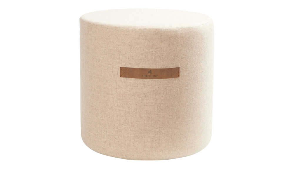 Wool covered stool - Sara design