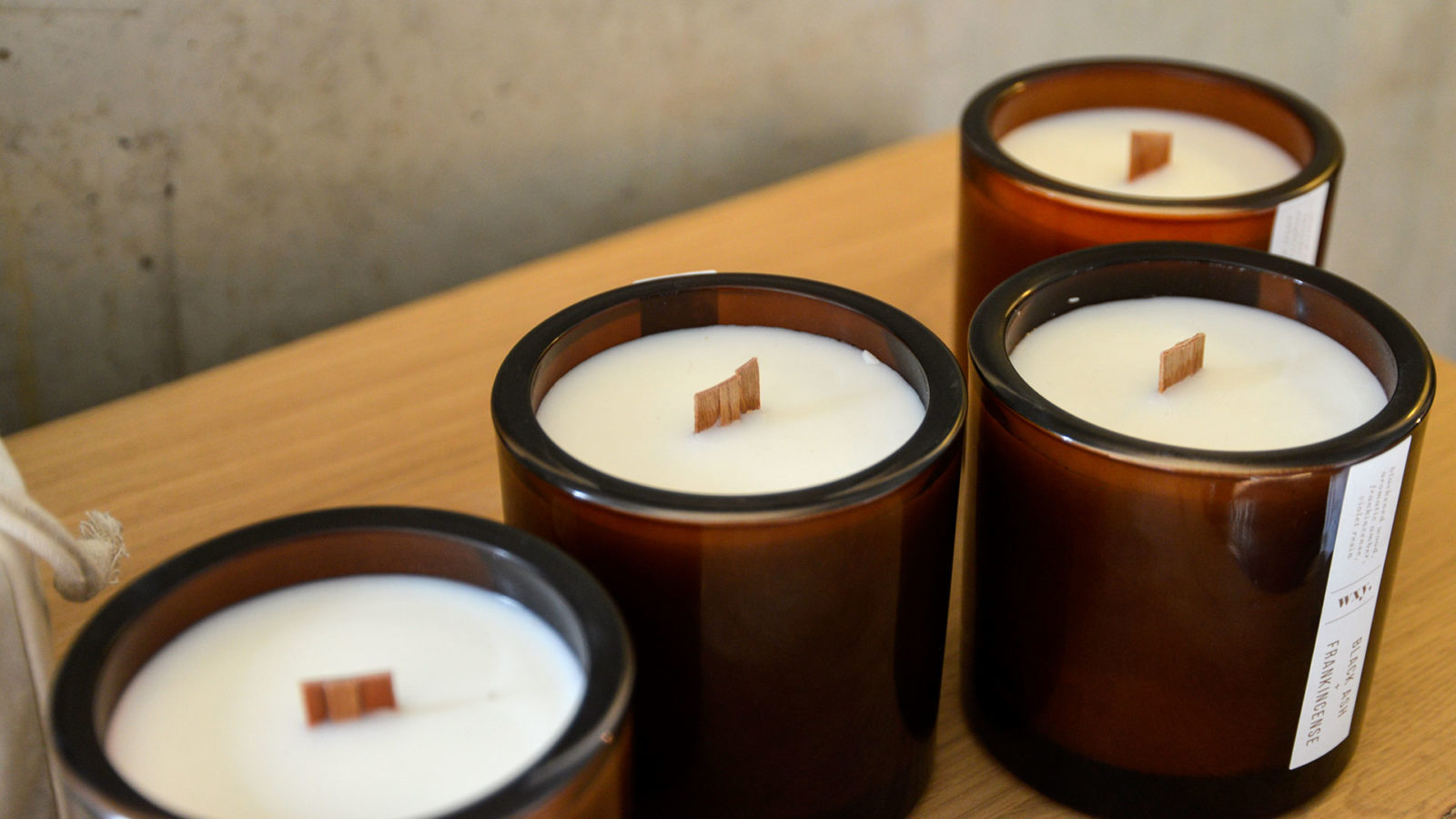 Scented Candles Wood-Wicks Collection