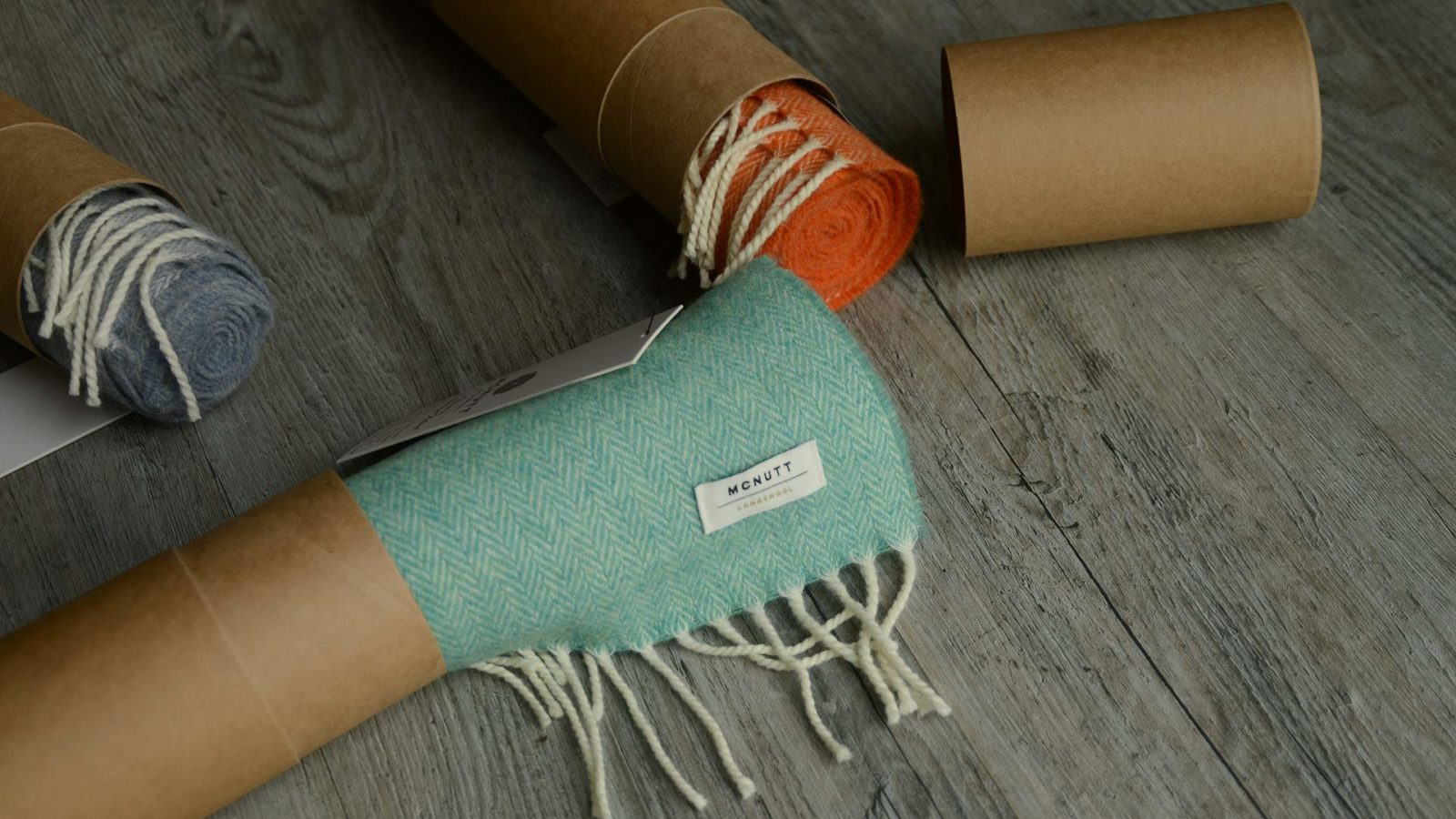 Merino lambswool scarves in a range of colours and gift boxed