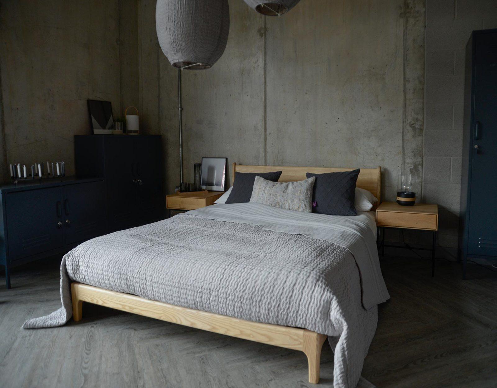 pale grey bedspread