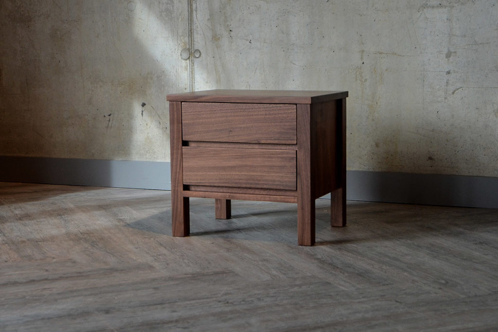 Shaker Walnut 2-Drawer Bedside Unit Exclusive to Natural Bed Company