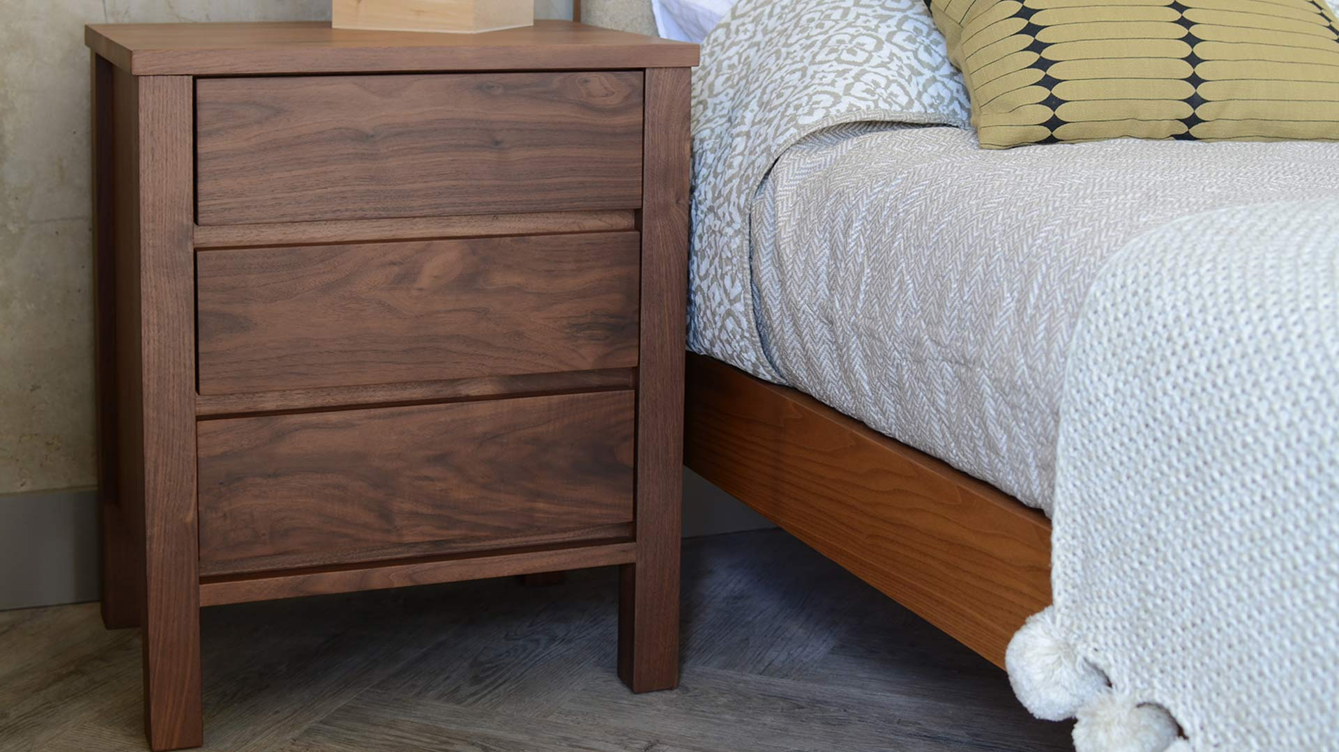 big sale 57c85 f754d Shaker - Walnut Bedside Drawer Unit