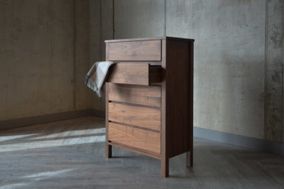 Shaker Walnut 5-Drawer Chest
