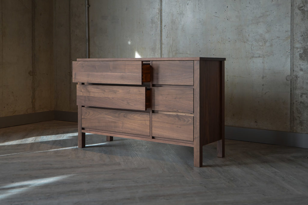 Shaker Look Walnut 6-Drawer Chest from Natural Bed Company