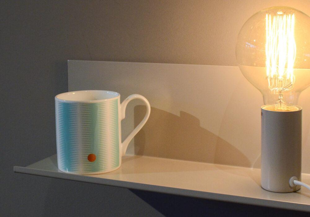 Bedside Shelf Lamp - off white
