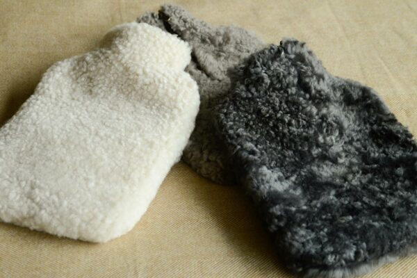 Hot Water Bottles with Luxury Sheepskin Covers