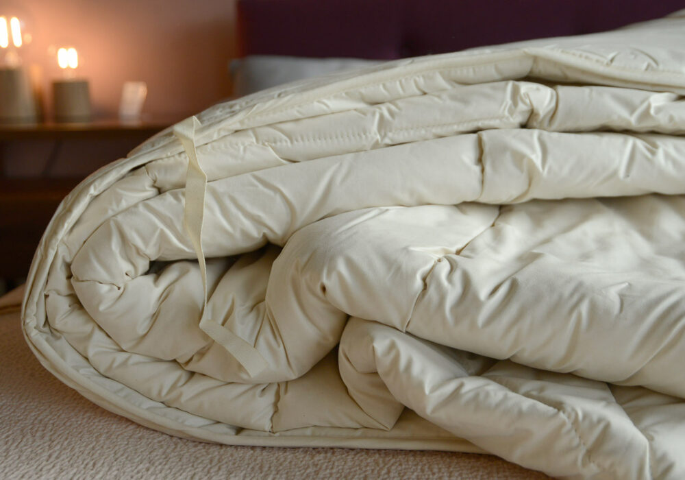 natural wild silk filled duvet with organic cotton cover