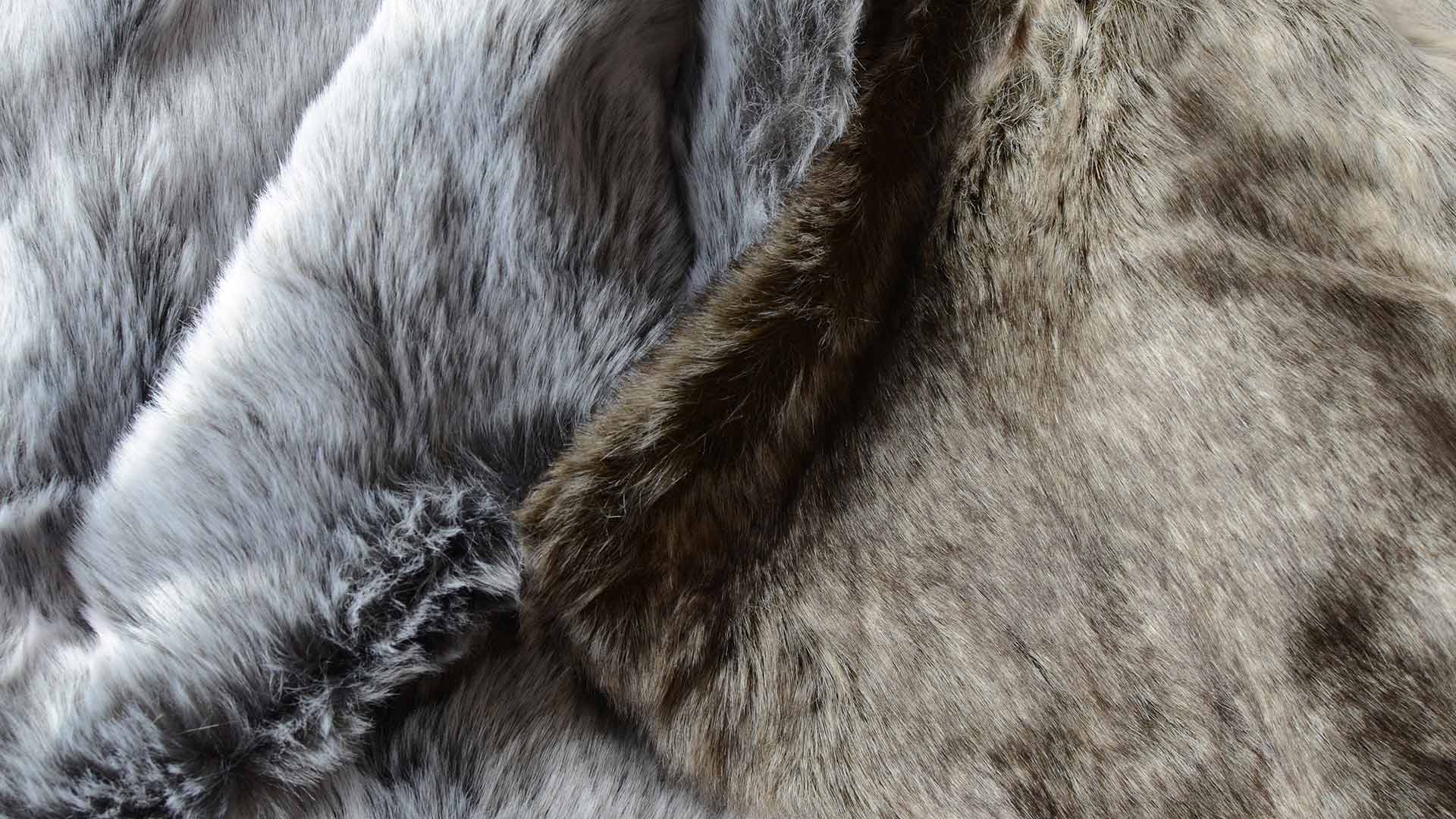 Natural Look Faux Fur Throws Throws Amp Blankets Natural