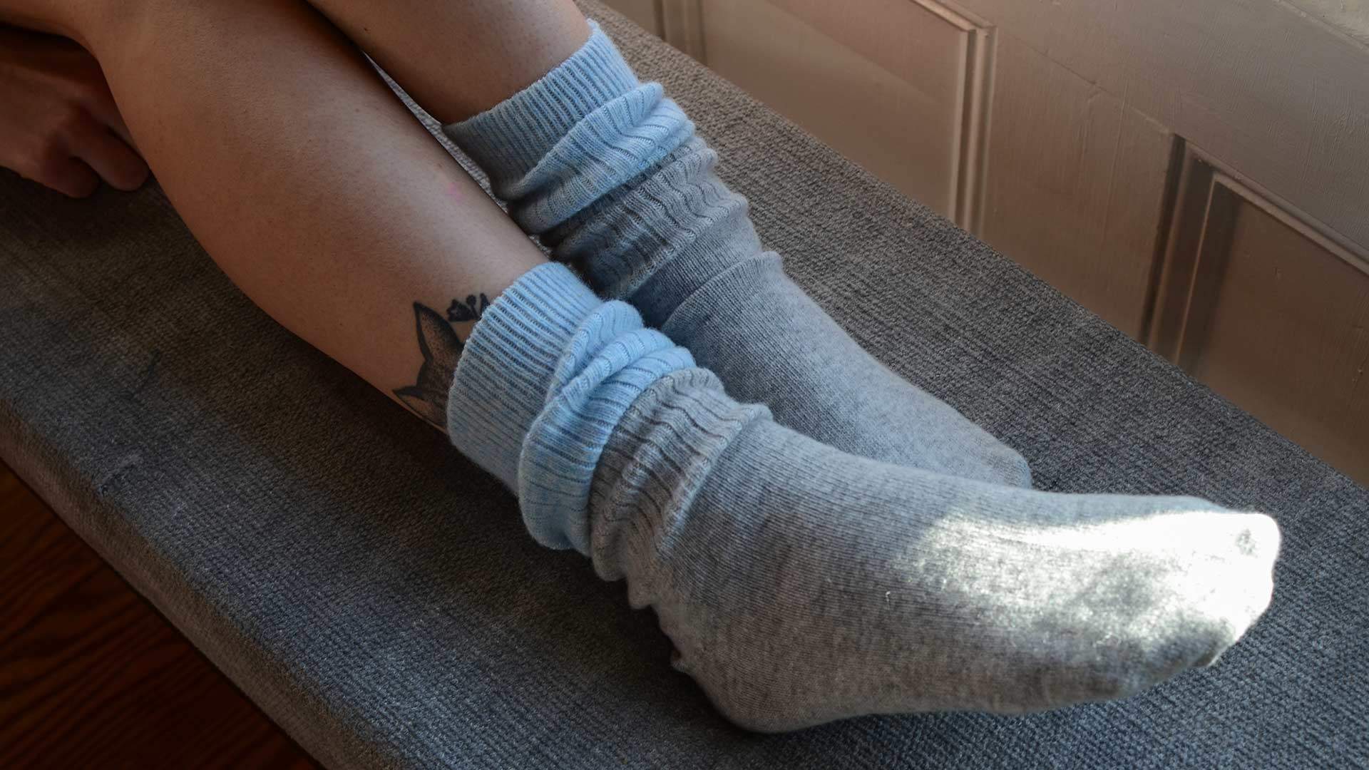 Cosy Sleep Socks Two Tone Natural Bed Company