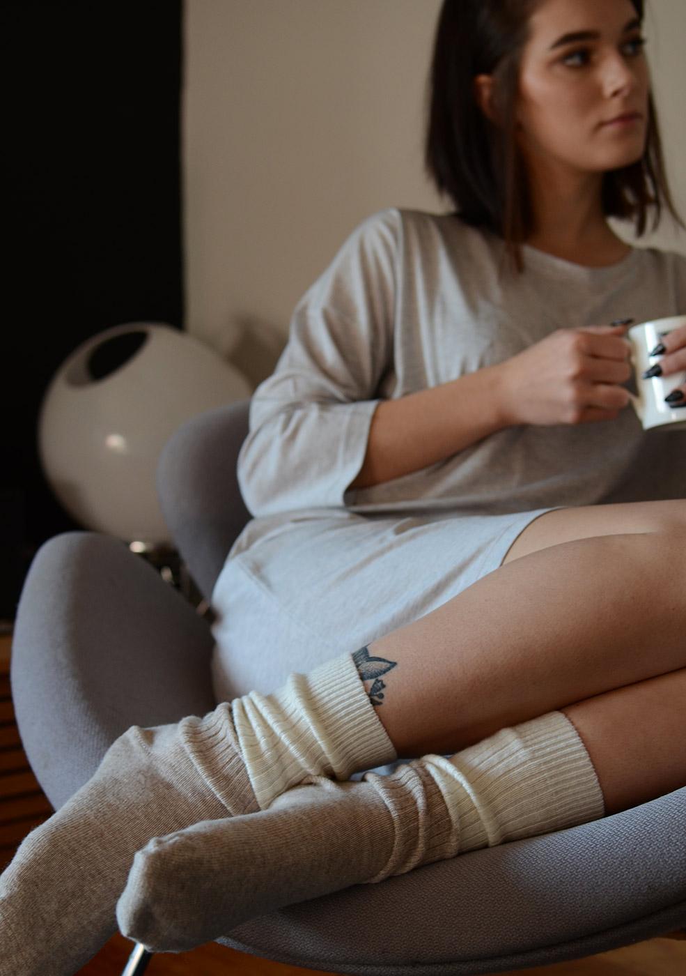 sleep-socks-cream-&-brown-portrait