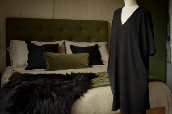 Organic Jersey Slouch Dress - black