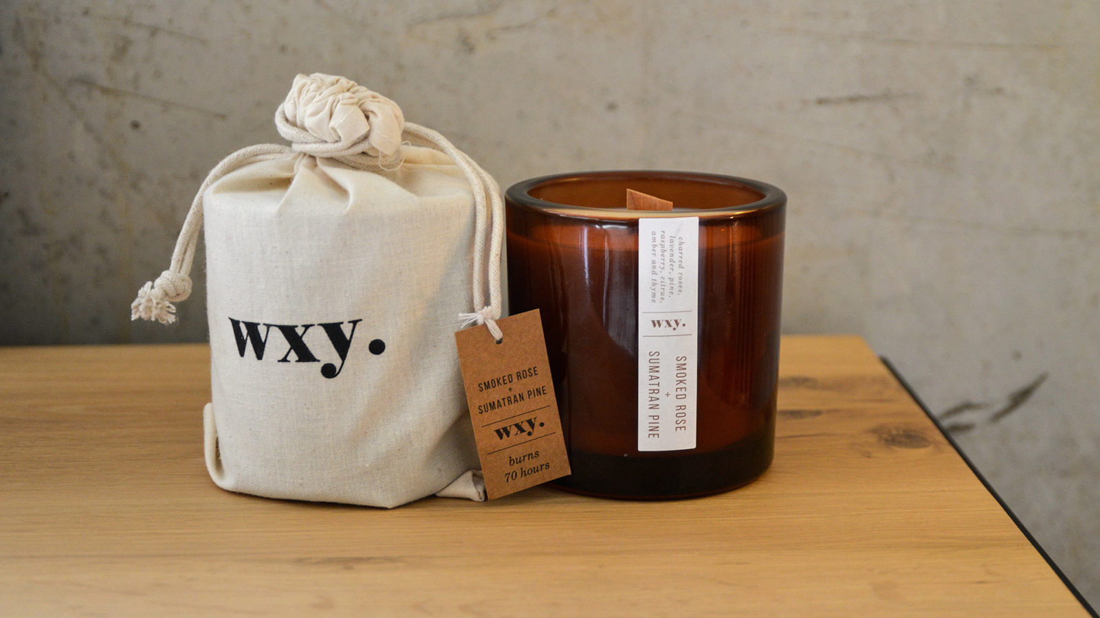 Smoked Rose Scented Candle