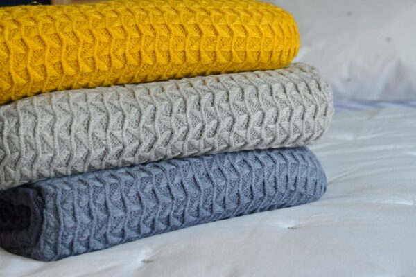 textured loose knit throws