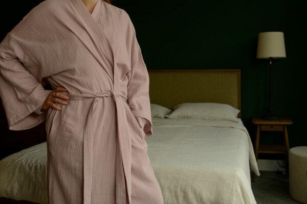 Soft Cotton Kimono Robe