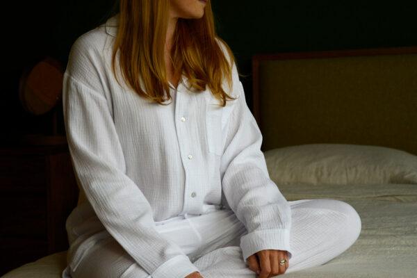 White Luxury Cotton Pyjamas