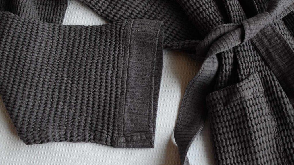 soft waffle-bath-robes - Slate Grey