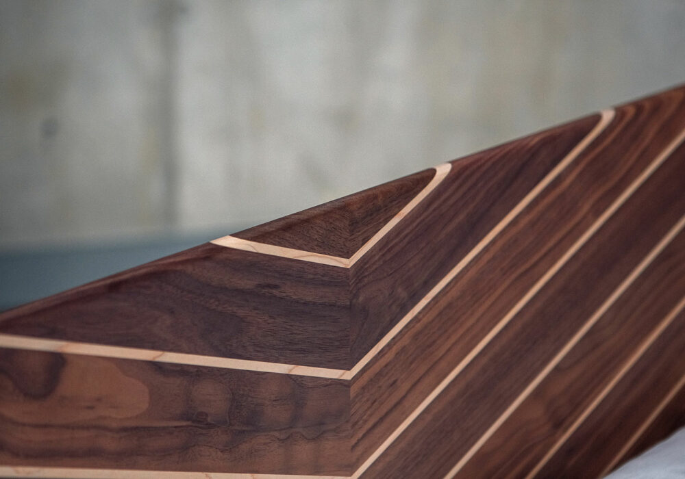 A close-up of the special edition Hoxton bed headboard showing the quality of craftsmanship.