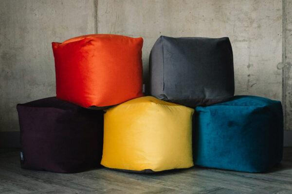 soft velvet bean bag stools in 5 colours