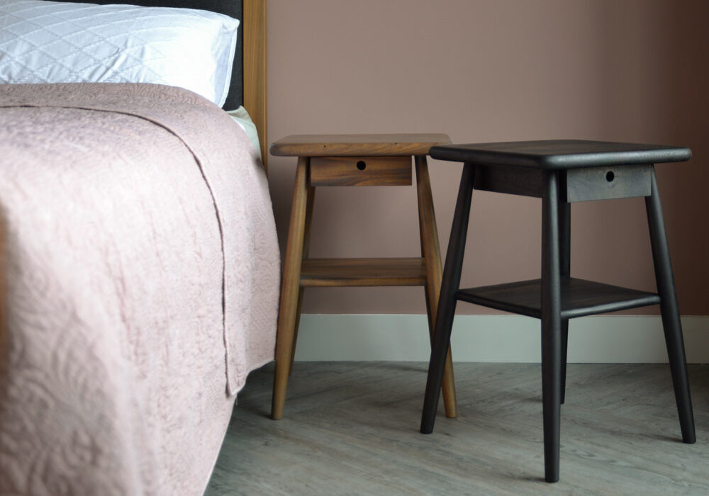 Oiled Wooden Side Tables - mid centiry style