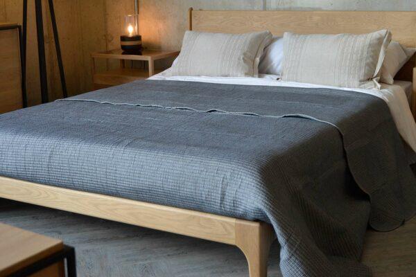 steel-grey-chambray-bedspread