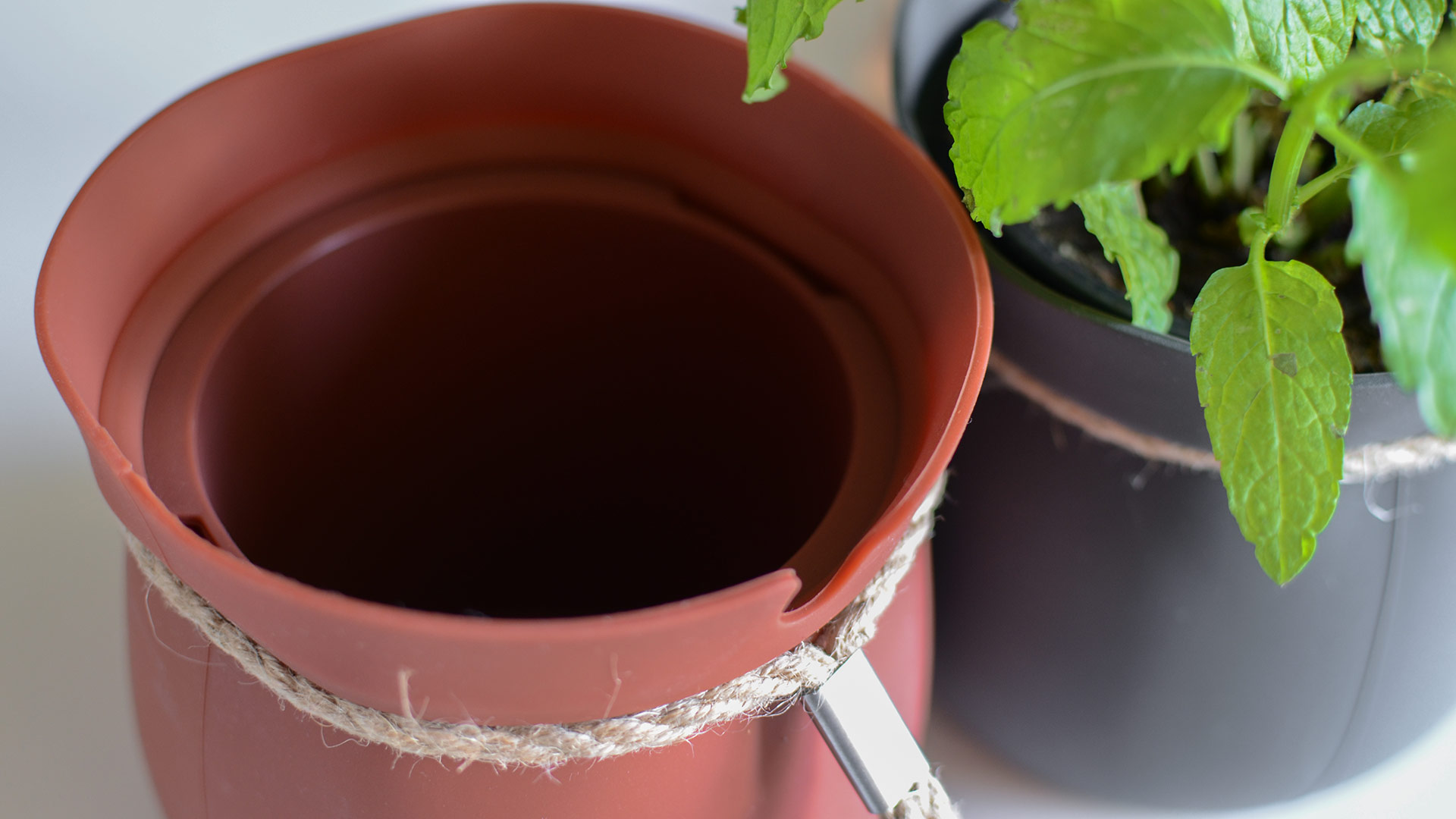 hanging herb pots