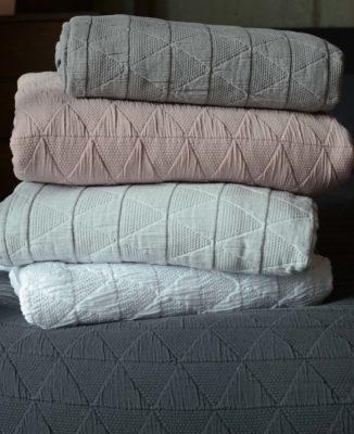 Stockholm bedspread 5 colour stack