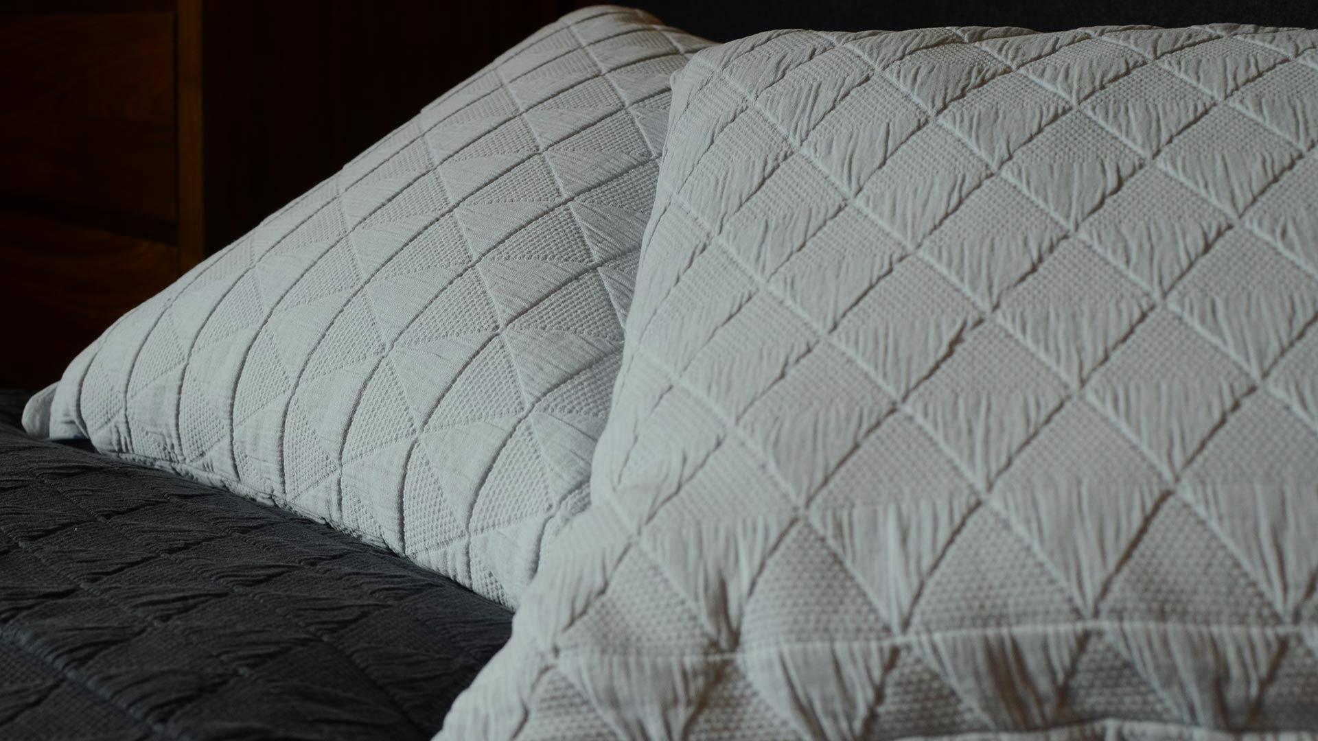 Stockholm modern cushions in silver grey