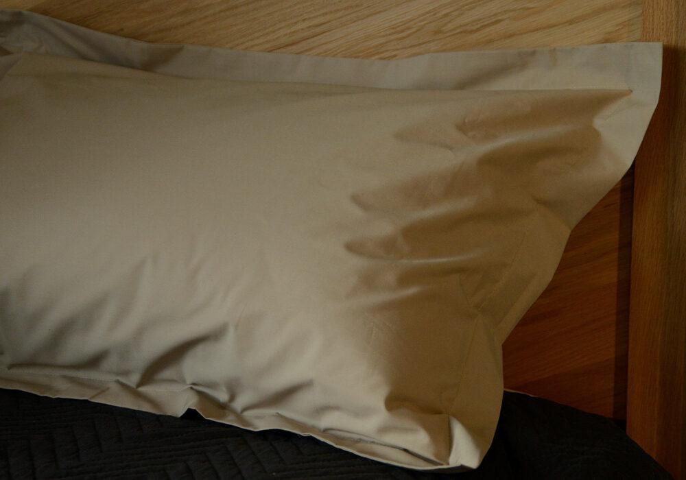 easy care oxford pillowcases in stone colour