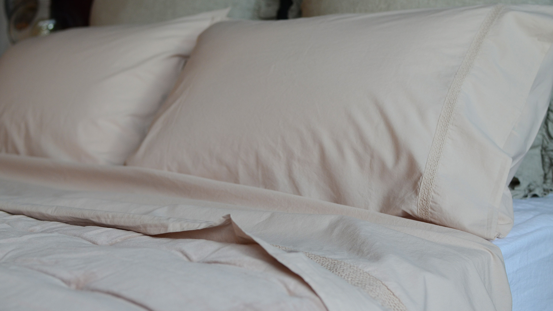 Stonewashed Cotton Bedding Set Pale Plaster Natural