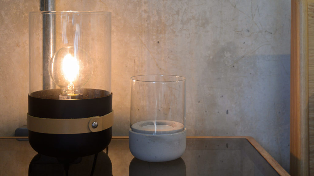 strap-lamp-and-concrete-candle-holder
