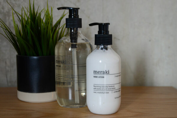 organic hand lotion and liquid soap in Tangled Woods