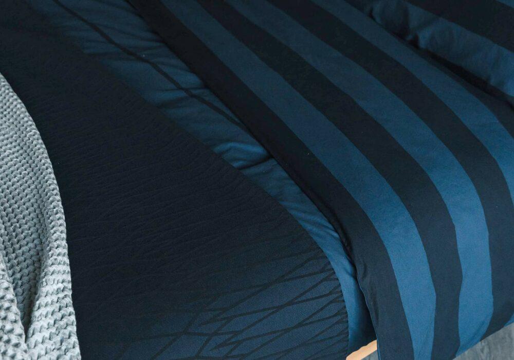 reversible duvet set - navy