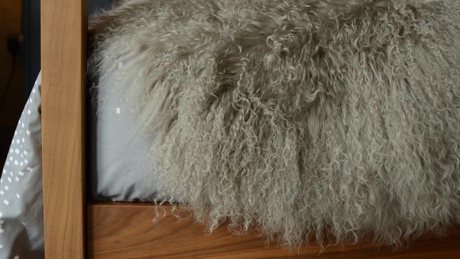 tibetan-sheepskin throw