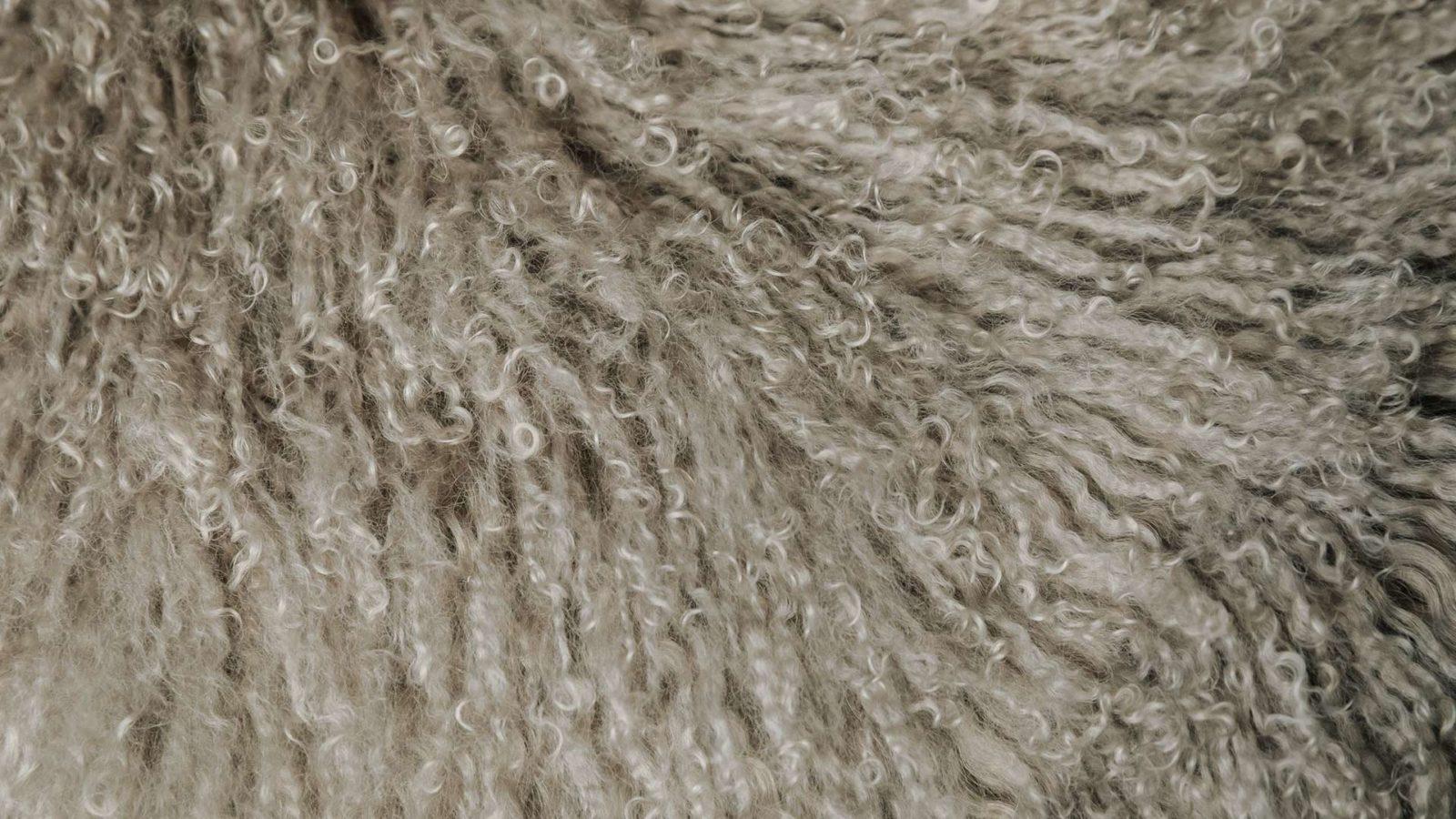 Tibetan sheepskin throw