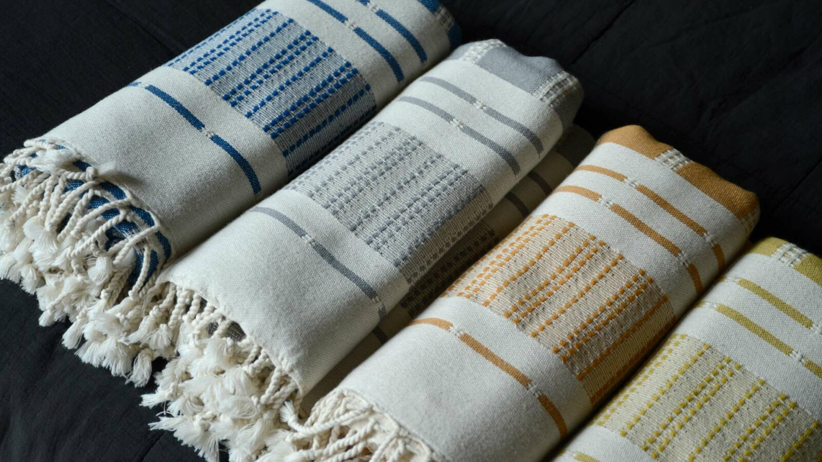 reversible woven cotton Turkish throws in 4 colour options
