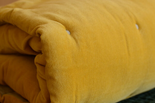 turmeric-colour-velvet-quilt-detail