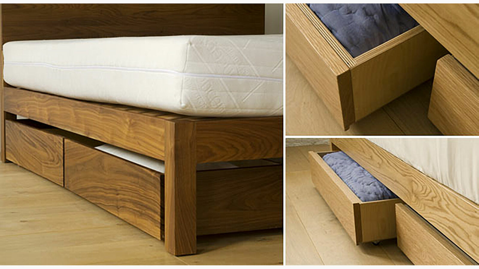 wheeled underbed drawers with front panel to match your NBC bed