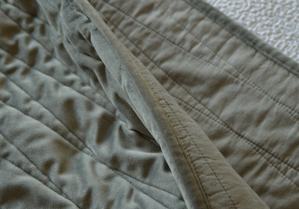 velvet and cotton reversible bedspreads