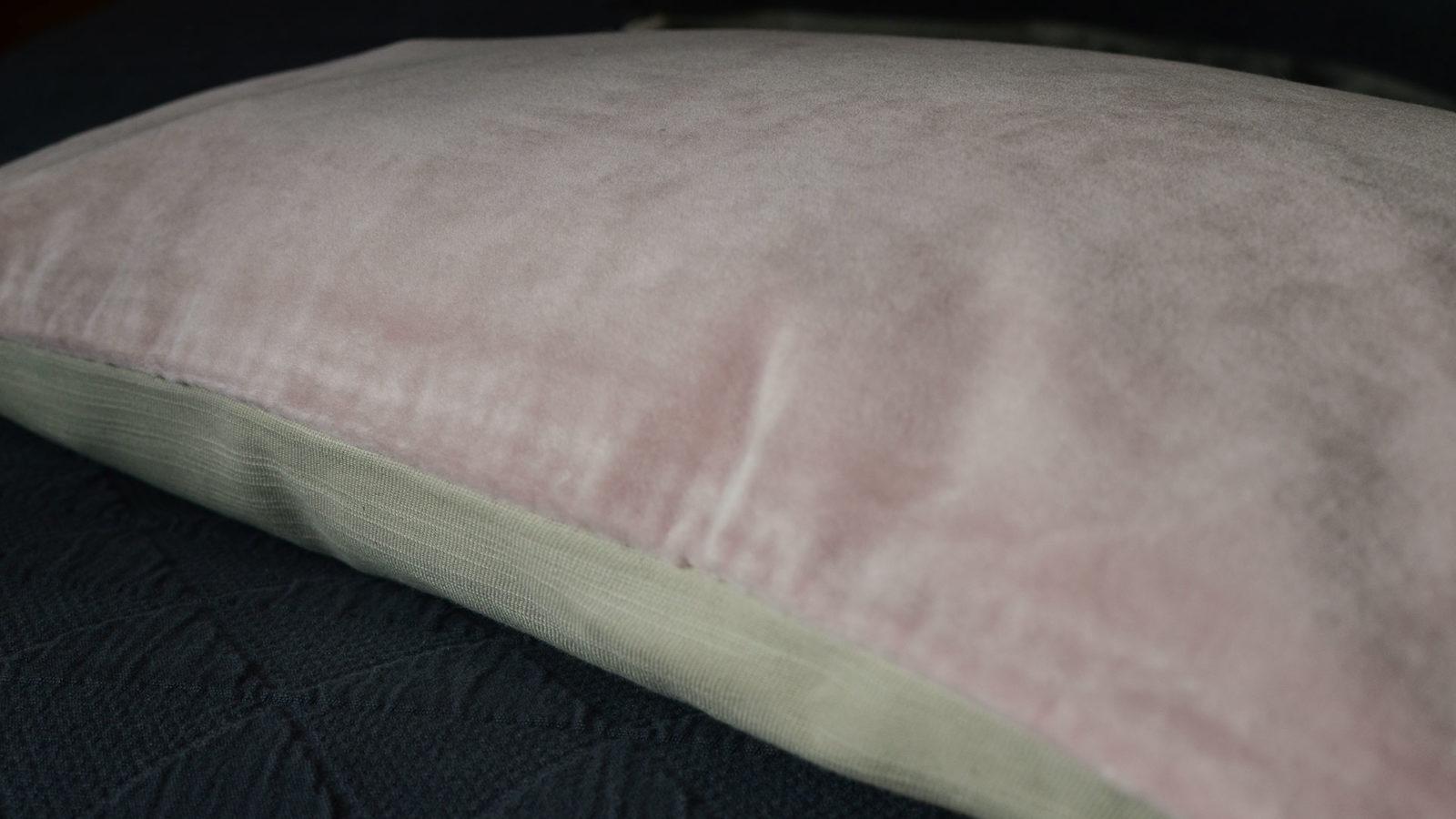 Velvet Cushion - Blush