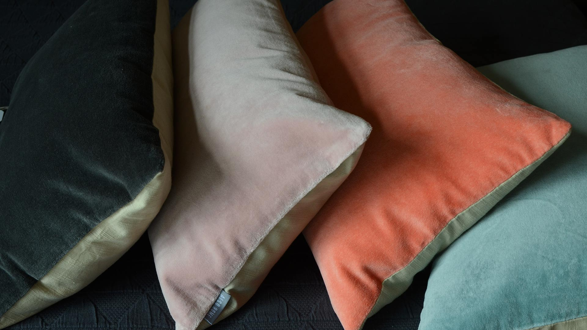 Cotton Velvet Cushions Accessories Natural Bed Company