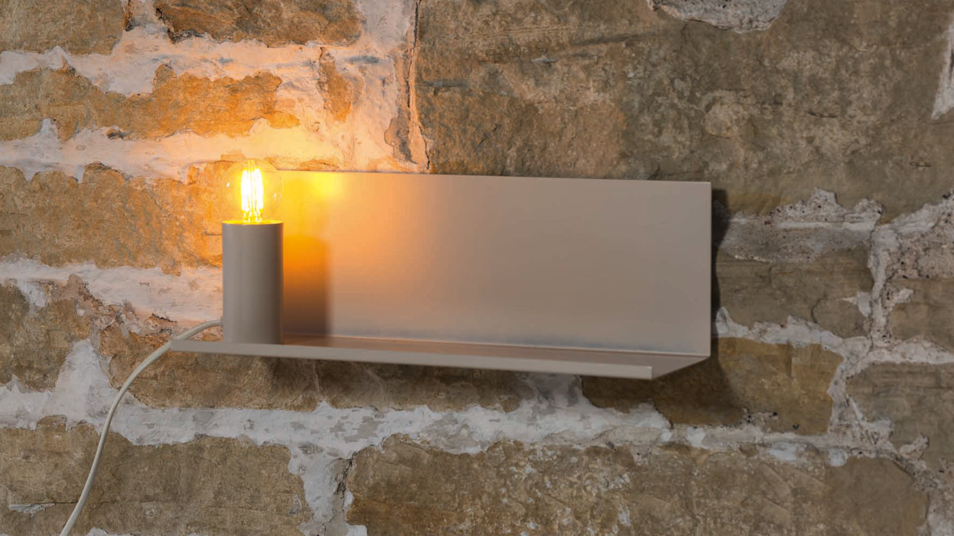 wall-shelf with lamp-soft-white