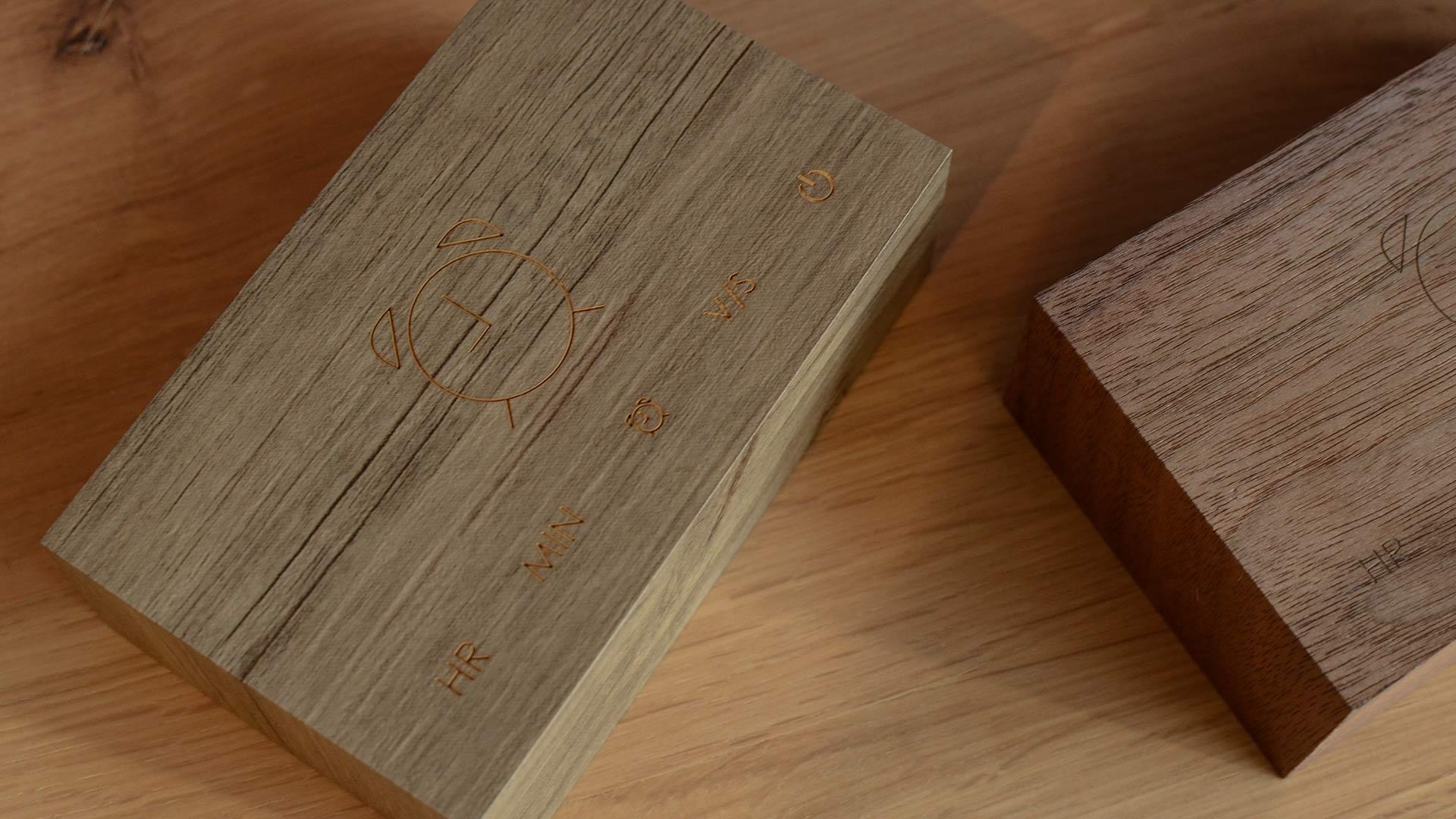 walnut-and-dark-ash-wooden-clocks