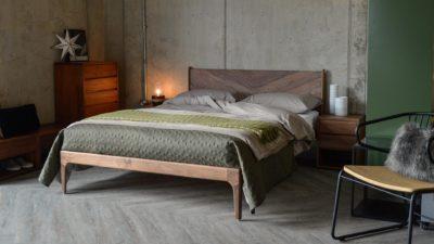 walnut hoxton contemporary bed