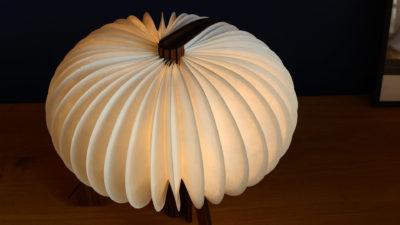 R Design Walnut Lamp