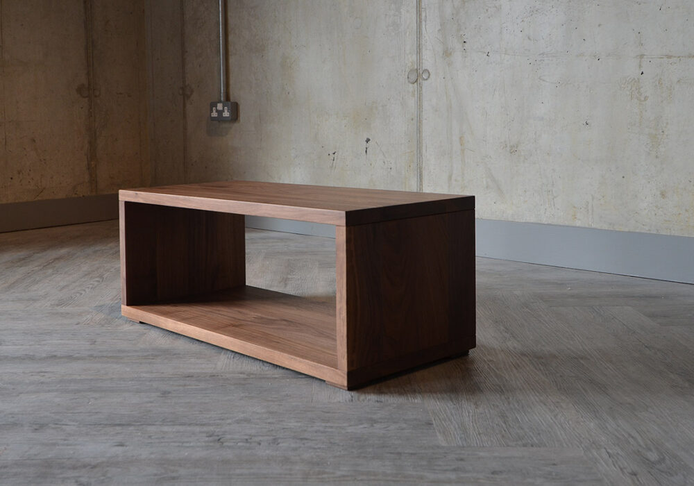 walnut Cube bedside unit or bench by Black Lotus