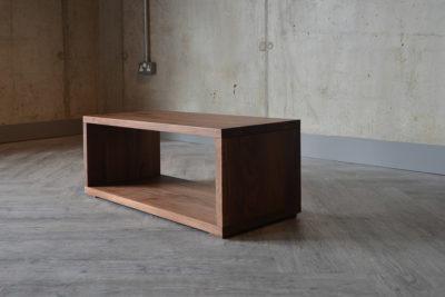 walnut Cube bedside unit or bench