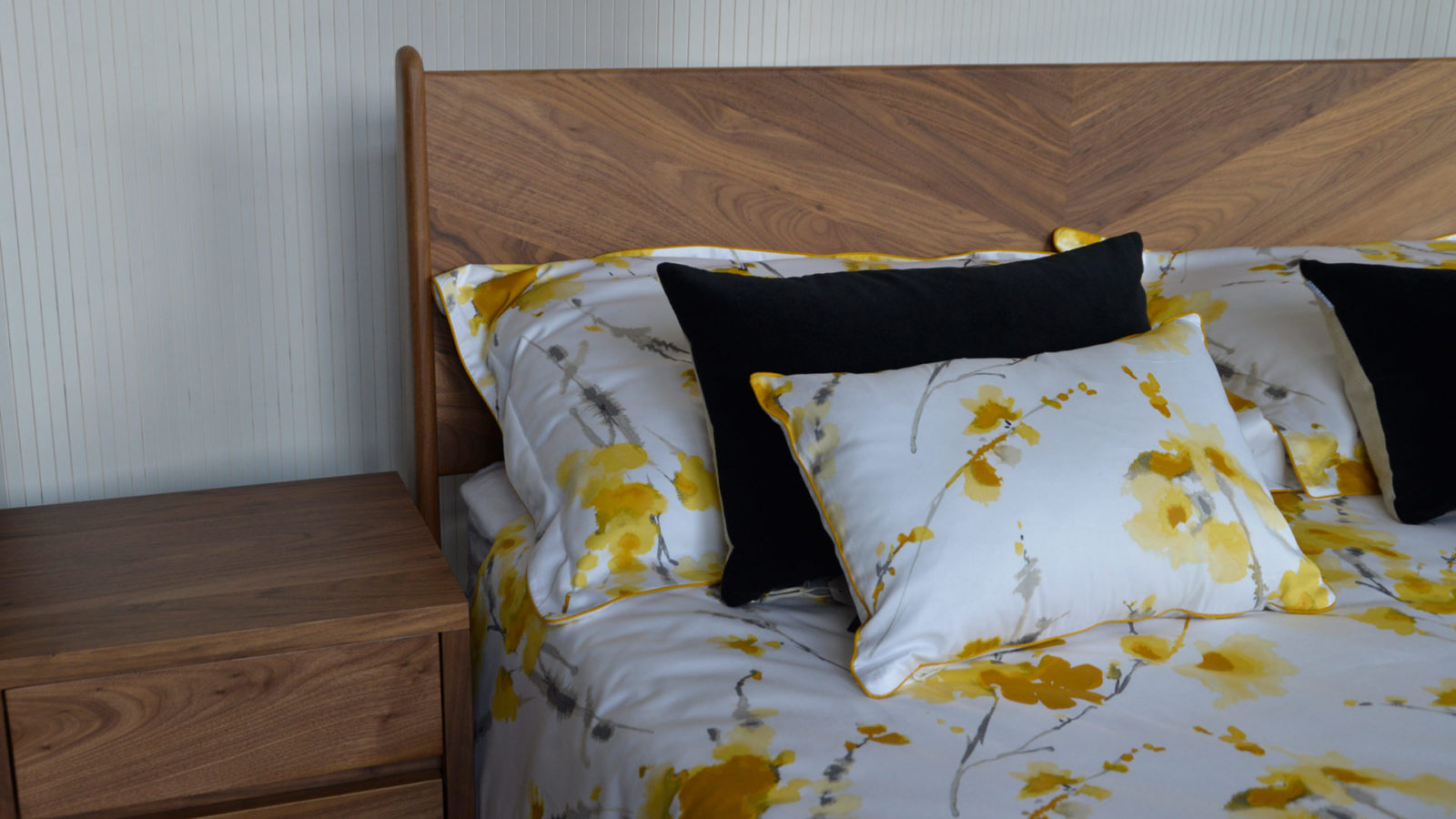 watercolour-floral-print-ochre-flowers-in-duvet-set-and-cushion