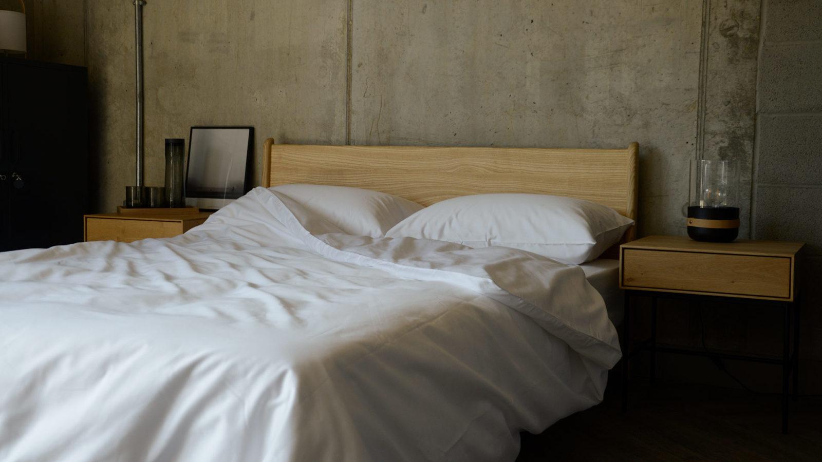 classic white bedding