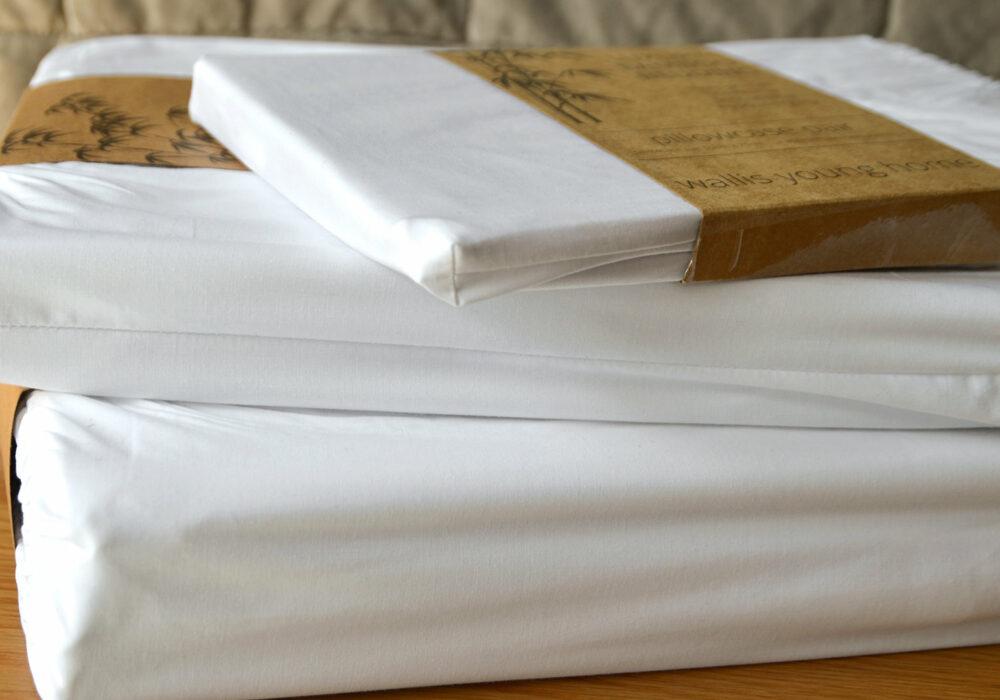hypo-allergenic luxury Bamboo fibre bedding in white