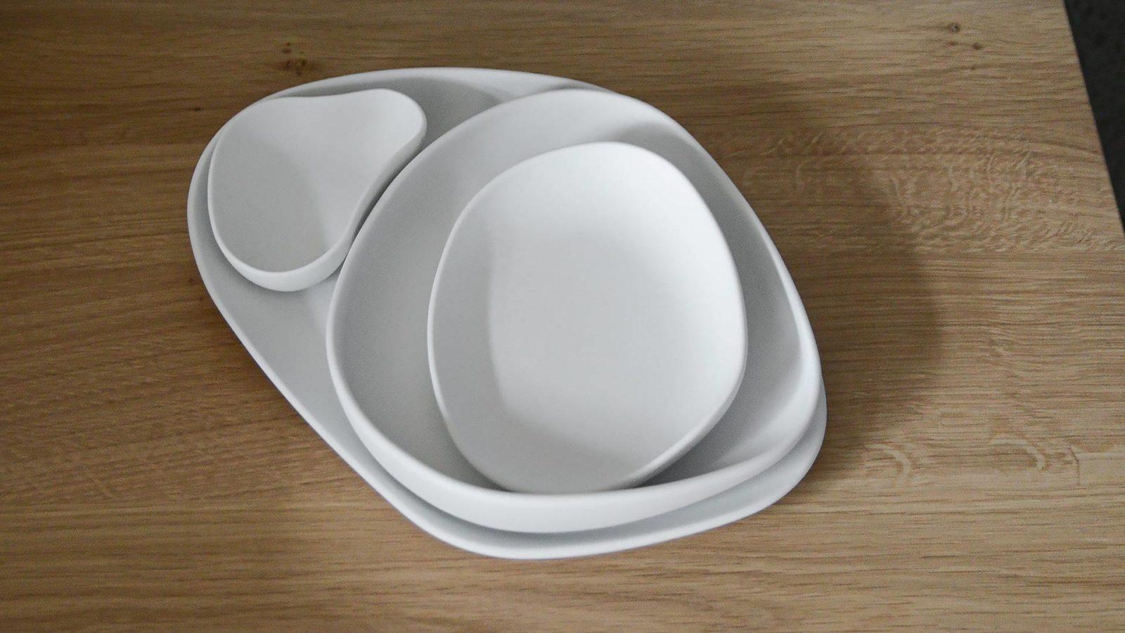 matt white porcelain tableware set